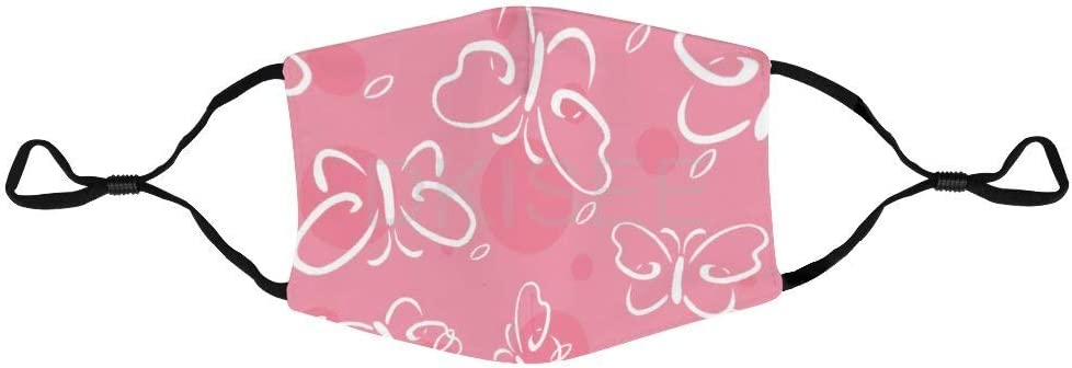 DKISEE - Mascarilla unisex antipolvo para la cara 014 con diseño de mariposa, de nailon reutilizable, transpirable, protección para la cara, para interiores y exteriores, 7,9 x 5,5 pulgadas