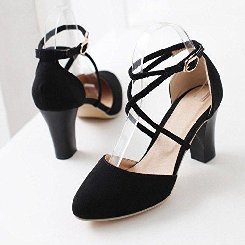 Boucle japonais en cuir verni gaufrés Chaussures avec des chaussures de robe haut talon x6VGi