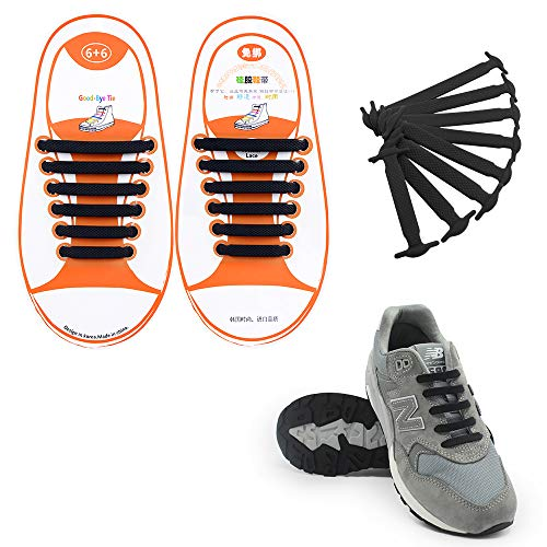 Hiking Boots Lock Shoelaces for Sneakers Elastic Shoe Laces for Trainers Board Shoes and Casual Shoes HYFAM 4 Pairs of No-Tie Shoelaces for Kids and Adults