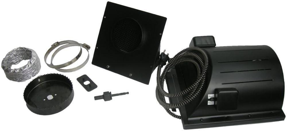 "Akoma Heat-N-Breeze Dog House Heater and Fan Black 10"" x 10"" x 4.5"""