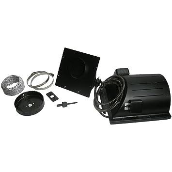 "Akoma heat-n-breeze perro casa calentador y ventilador negro 10 ""x"