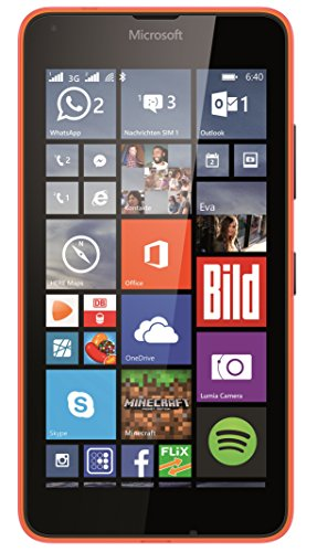 Microsoft Lumia 640 Dual-SIM Smartphone (5 Zoll (12,7 cm) Touch-Display, 8 GB Speicher, Windows 8.1) Neon Orange