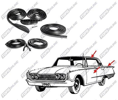 (TopsOnline 5 Piece Weather Seals Kit for 2-Door Hardtop Model, Fits 1966 and 1967 Plymouth Belvedere, GTX & Satellite)