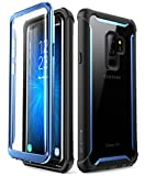 Samsung Galaxy S9+ Plus case, i-Blason [Ares] Full-Body Rugged Clear Bumper Case with Built-in Screen Protector for Samsung Galaxy S9+ Plus 2019 Release (Blue)