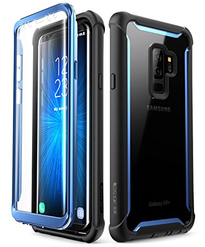 Samsung Galaxy S9+ Plus case, i-Blason [Ares] Full-Body Rugged Clear Bumper Case with Built-in Screen Protector for Samsung Galaxy S9+ Plus 2018 Release