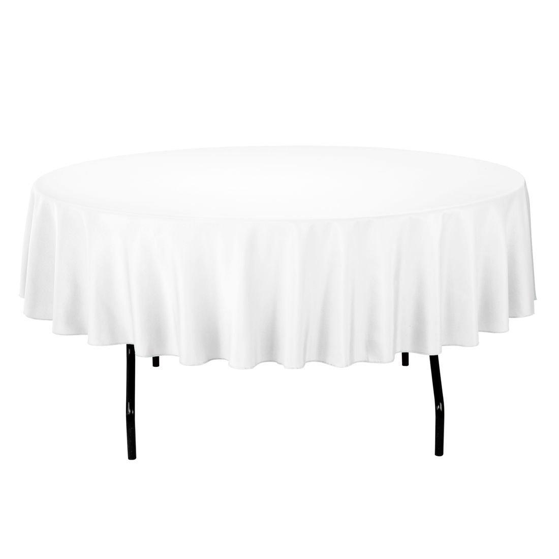 Gee Di Moda Tablecloth - 90'' Inch Round Tablecloths for Circular Table Cover in White Washable Polyester - Great for Buffet Table, Parties, Holiday Dinner & More
