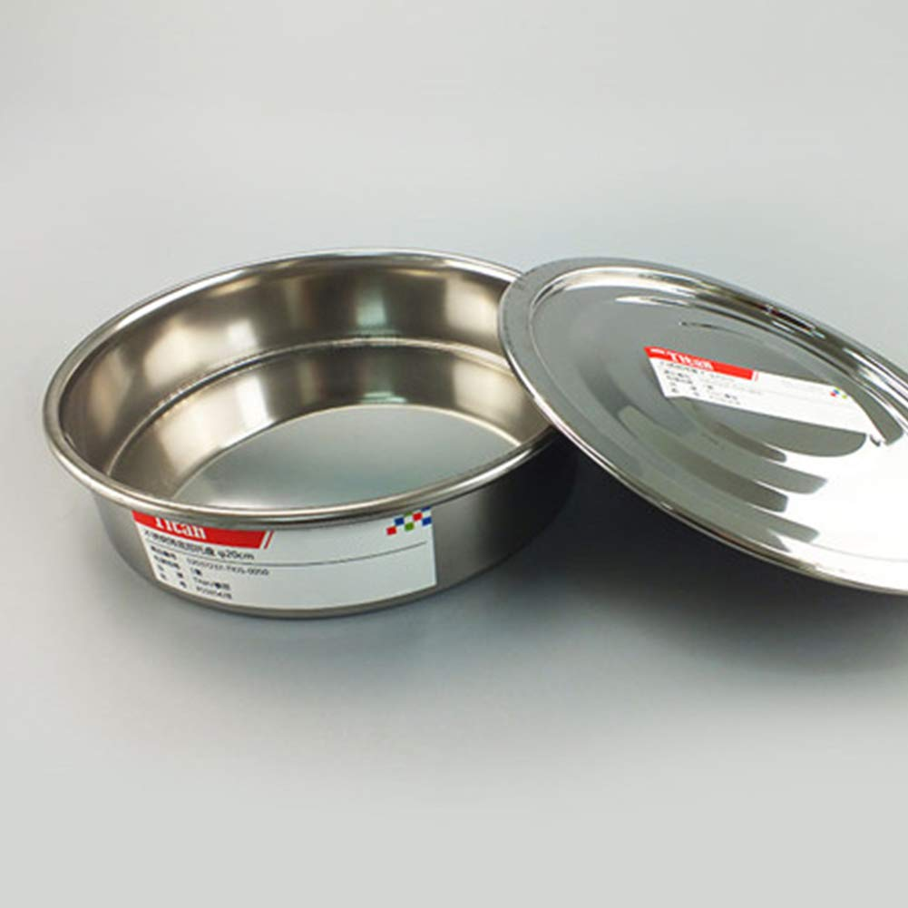 Tansoole Tamis Laboratoire /φ30/×4.5cm// Diam/ètre du Trou: 5mm 5 Mesh Tamis de Test en Acier Inoxydable