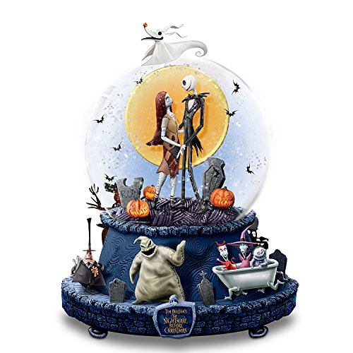 Disney The Nightmare Before Christmas Musical Glitter Globe With Rotating Base by The Bradford -