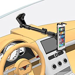Arkon Phone and Midsize Tablet Windshield Mount for iPad mini iPhone 7 6S 6 Plus 7 6S 6 Note 5 4 Retail Black