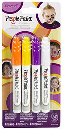 DecoArt Multipack No.1 People Paint, White/Yellow/Orange/Purple, 4-Pack]()