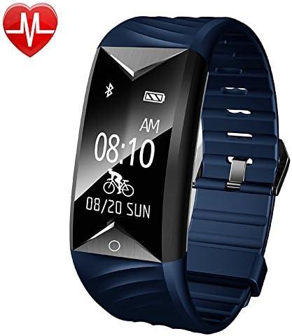 Fitness Tracker, Willful Fitness Armband Herzfrequenz IP67 Wasserdicht Uhr Schrittzähler Aktivitätstracker für iOS und Android Handy (Mit Schlaf-Monitor, Call Nachricht Reminder, Fahrrad Modus)