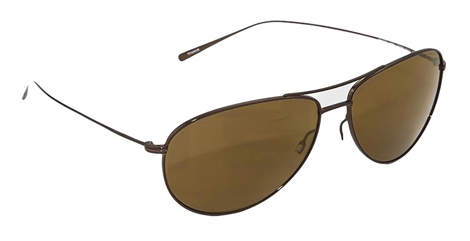 d93eae2aa5d Amazon.com  Oliver Peoples Tavener Sunglasses Birch   Solid Brown Gold  Mirrored 1147st 51 465a  Clothing