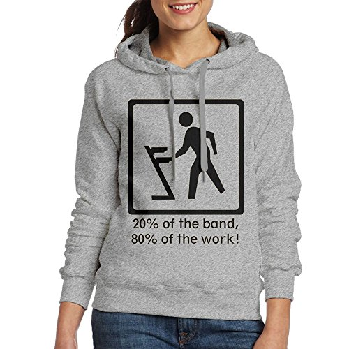 Price comparison product image Grhoodie1 The Keyboard Player Women's Long Sleeve Pullover Hooded Sweatshirt Ash Size M