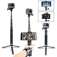 AFAITH Waterproof Selfie Stick Aluminum Alloy Hand Grip Telescopic Handheld Monopod for GoPro Hero 5/ Hero 4/3+, iPhone 7 / 7 Plus / 6s Plus / 6, Samsung Galaxy S8 Edge S7 S6 and Smartphones GP073