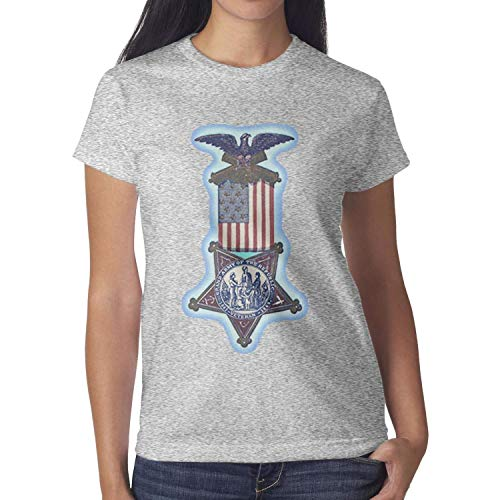 ZWZHI Grand Army of The Republic Womens T-Shirt Classic 100% Cotton Shirt Breathable (Ladies Of The Grand Army Of The Republic)