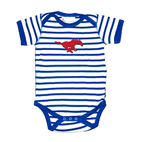 (Smu Mustangs Striped NCAA College Newborn Infant Baby Creeper (6)
