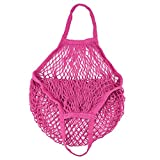 Solid Mesh Bag,Fashion Shopping Bag Reusable Fruit Storage Handbag Totes (E)