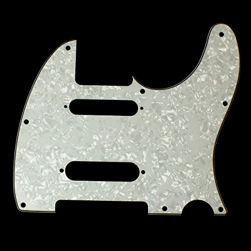 Custom Guitar Pickguard For Nashville Tele style,4Ply White pearl Celluloid