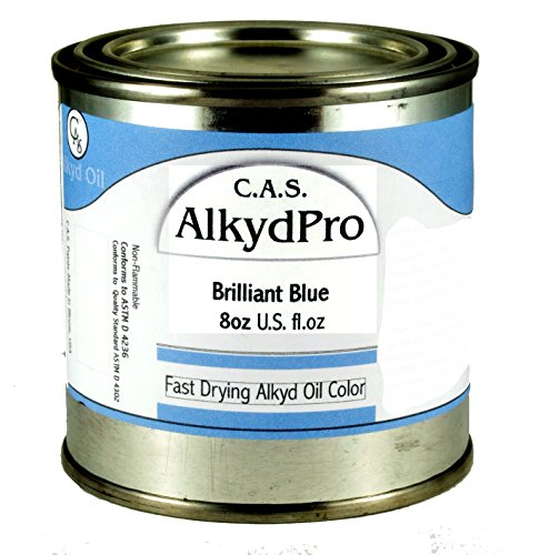 Fast Drying Oil Colors (C.A.S. Paints AlkydPro Fast-Drying Oil Color Paint Can, 8-Ounce Brilliant Blue)