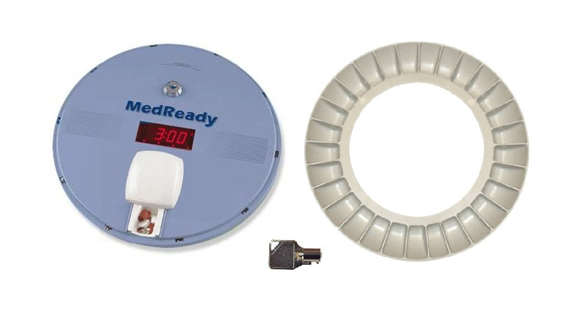 MedReady P1700 Basic Automatic Pill Dispenser, Extra Tray and Key