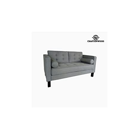 Sofá de 2 Plazas Madera de pino Poliéster Gris (149 x 81 x ...