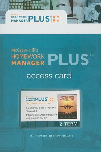 Homework Manager Plus Card to accompany Intermediate Accounting (McGraw-Hill's Homework Manager Plus)