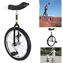 "20"" Unicycle Black Unicycle Chrome Wheel Unicycle For Youth Adult Black Cycling Outdoor Sports Fitness Exercise"