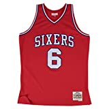 Julius Erving Philadelphia 76ers Mitchell & Ness NBA Throwback HWC Jersey - Red