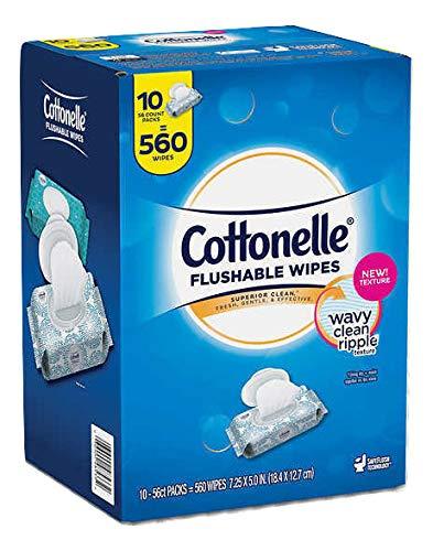 Cottonelle flushable wipes 560-count