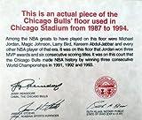 Chicago Bulls Game Used 1.5x6 Blonde Hardwood Floor