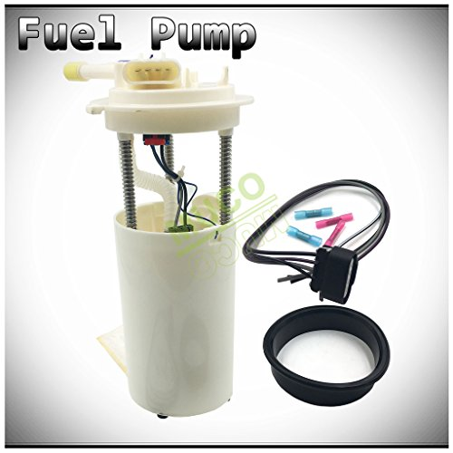 MUCO New 1pc Electric Intank Fuel Pump Module Assembly w/Level Sensor Sending Unit Fit 02-03 Cadillac Escalade Base 00-03 Chevy Tahoe/GMC Yukon/Denali 4.8L/5.3L/6.0L V8 Gas Engine E3508M
