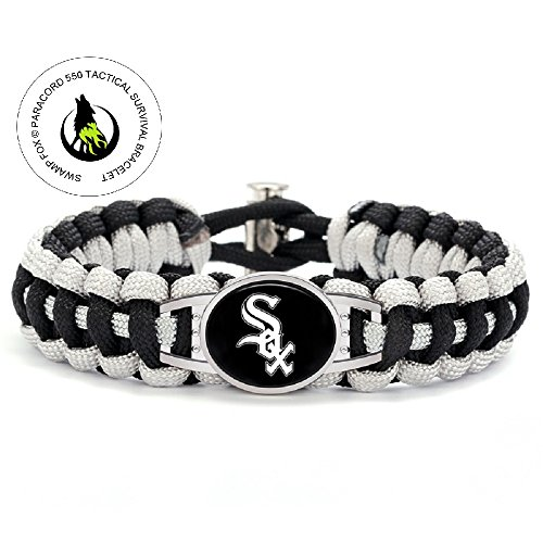 Swamp Fox Premium Style Chicago White Sox Baseball Team Adjustable Paracord Survival Bracelet only