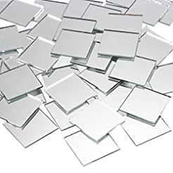 Craft Mirrors - 120-Pack Bulk Square Mir...