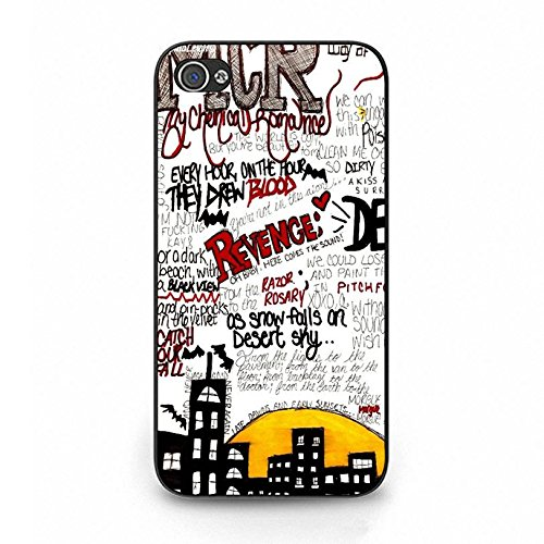 Iphone 4 4s Band MCR Cover Shell Special Magic Castle Design Alternative/Indie Rock Band My Chemical Romance Phone Case Cover for Iphone 4 4s