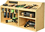 Power Tools Storage Drill Charging Station Drill Organizer Wall Mounted Wooden