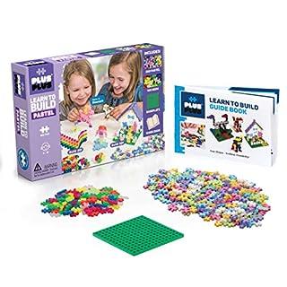 Plus-Plus - Learn to Build Pastel Color Mix, 400 Piece - Construction Building STEM | STEAM Toy, Interlocking Mini Puzzle Blocks for Kids