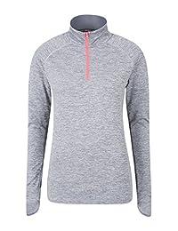 Mountain Warehouse Crest Womens Half Zip Midlayer Grey 10