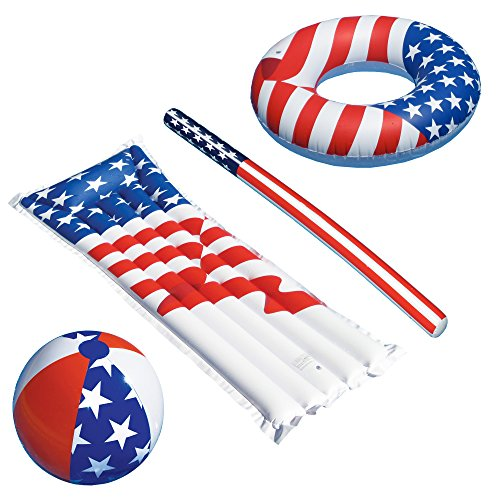 Swimline Patriotic American Flag Series Inflatable Swimming Pool, 36