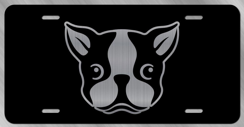 Boston Terrier Dog Vanity Front License Plate Tag KCE221 KCD