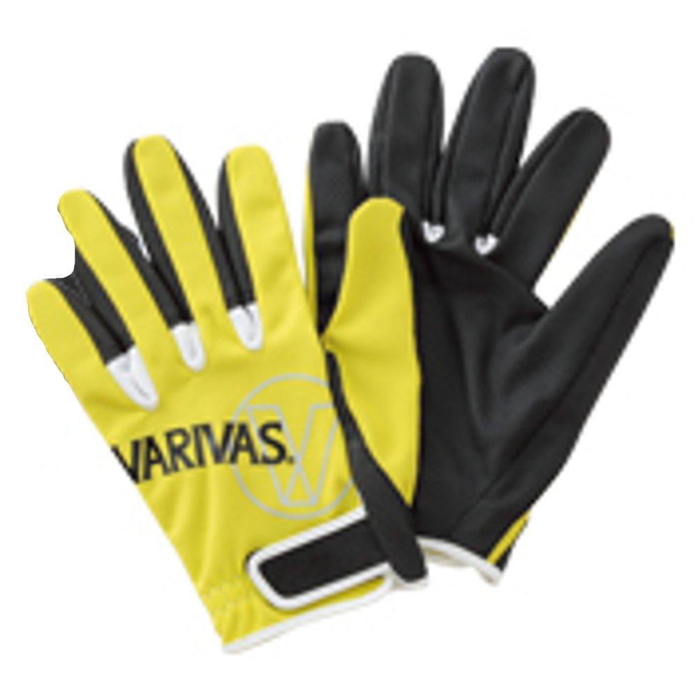Varivas VAG-13 Mesh Gloves Full Type Lime Size LL (7721)