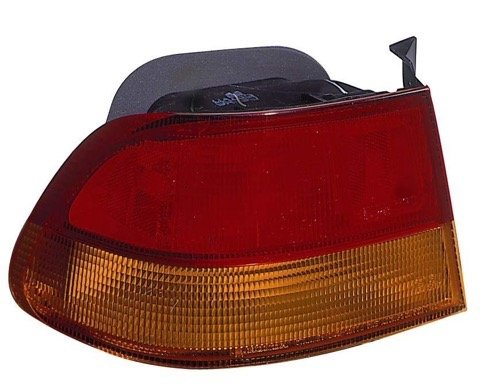 le 1996-1998 Honda Civic Rear Tail Light Assembly/Lens/Cover - Left (Driver) Side - (2 Door; Coupe) 33550-S02-A01 HO2800144 Replacement For Honda Civic (Rear Quarter Panel Standard Coupe)