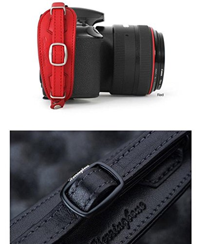 Herringbone Heritage Leather Camera Hand Grip Type 1 Hand Strap for DSLR with Multi Plate RED Limited