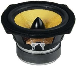 Monacor SPH-165KEP - Subwoofer componente de 100W, negro y amarillo