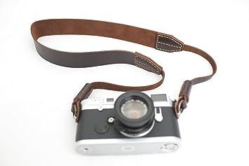 Handmade Genuine Real Leather Camera Strap Neck Strap: Amazon.co ...