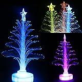 Sales Color Changing LED Fiber Optic Nightlight Xmas Tree Lamp Light Holiday Season