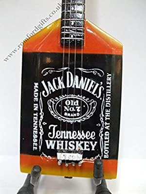 VAN HALEN JACK DANIELS bajo Guitarra en miniatura: Amazon.es: Hogar