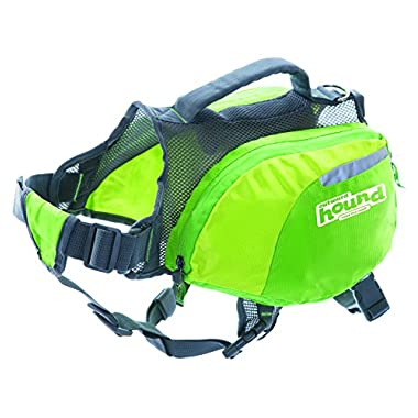 Outward Hound DayPak Dog Backpack Adjustable Saddlebag Style Hiking Gear for Dogs, Medium, Green