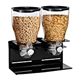 Zevro KCH-06148 Commercial Plus Dry Food Dispenser, Dual Control, Stainless Steel, Black/Chrome