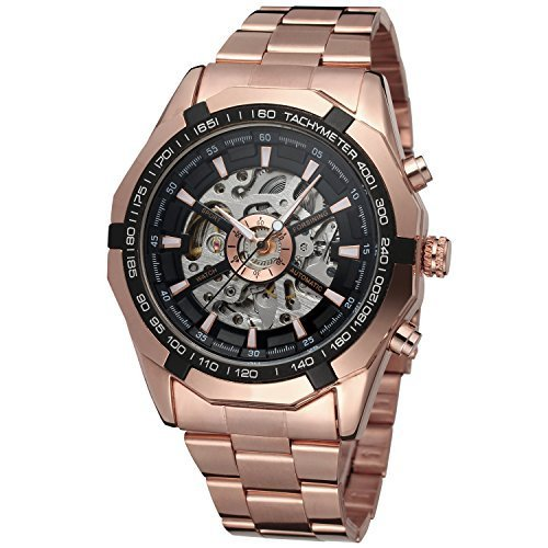 FORSININGメンズ自動DressingアナログRound Wrist Watch withステンレススチールブレスレットfsg8042 m4r2 B00VJOURK4