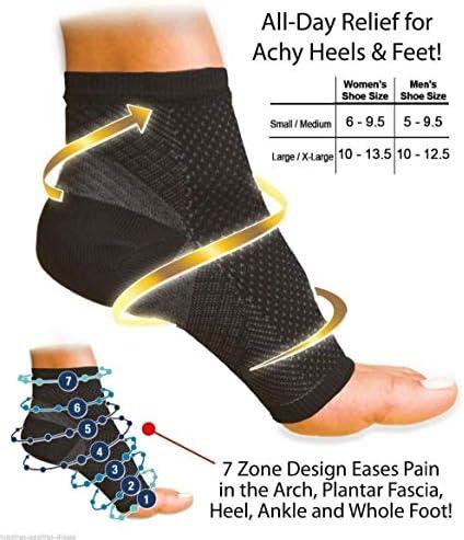 グッド通気性 1ペアの女性の足首のハイヒールサポート男性の圧縮フットエンジェルスリーブヒールアーチサポートの痛みを軽減する2PCS (Size : 6 9.5 Women)
